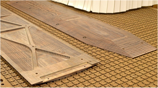 Wooden floors for the Motorsport industry.